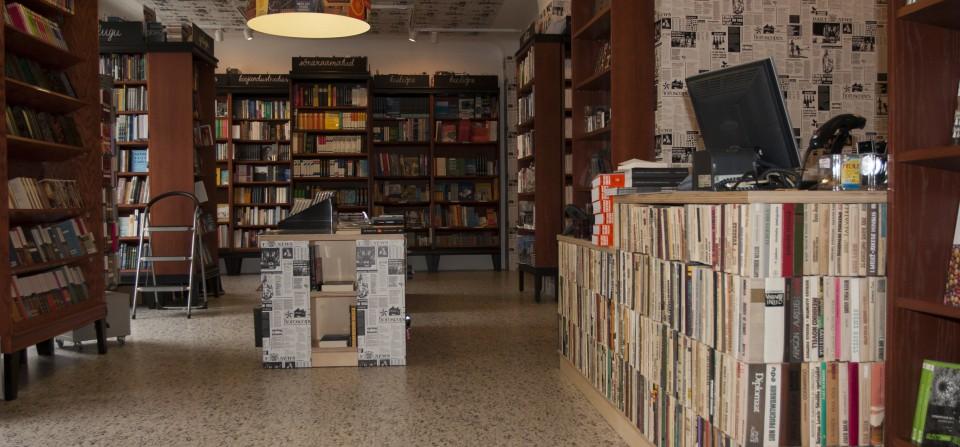 Krisostomuse raamatukaupluse sisekujundus